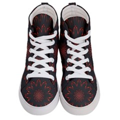 Fractal Glowing Abstract Digital Men s Hi Top Skate Sneakers