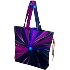Abstract Background Lightning Drawstring Tote Bag