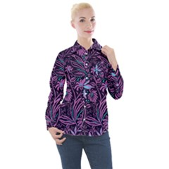 Stamping Women s Long Sleeve Pocket Shirt