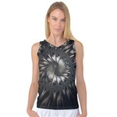 Fractal Abstract Pattern Silver Women s Basketball Tank Top