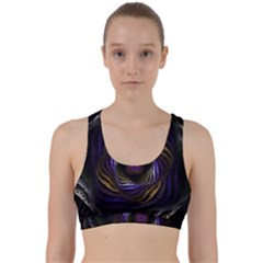 Fractal Abstract Fractal Art Back Weave Sports Bra