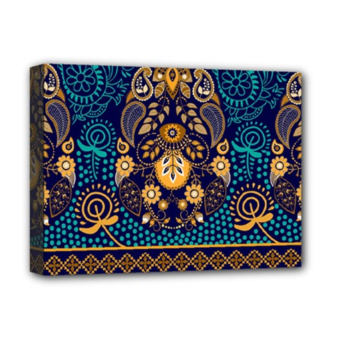 African Pattern Deluxe Canvas 16  X 12  (stretched)