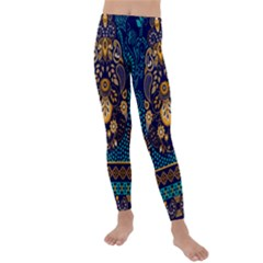 African Pattern Kids  Lightweight Velour Leggings by Wmcs91