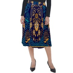 African Pattern Classic Velour Midi Skirt  by Sobalvarro