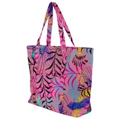 Leaves Zip Up Canvas Bag