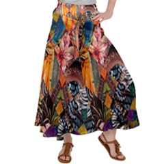 Tropical Paradise Satin Palazzo Pants by tarastyle