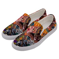 Tropical Paradise Men s Canvas Slip Ons by tarastyle