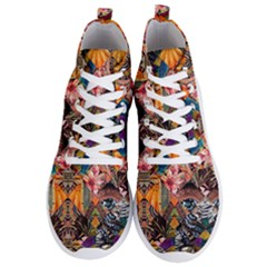 Tropical Paradise Men s Lightweight High Top Sneakers by tarastyle