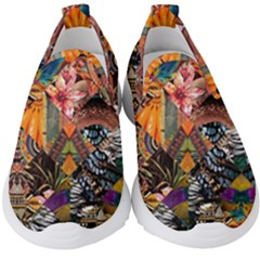 Tropical Paradise Kids  Slip On Sneakers by tarastyle