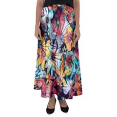 Tropical Paradise Flared Maxi Skirt