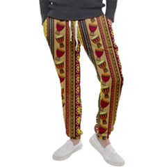 Traditional Africa Border Wallpaper Pattern Colored 4 Men s Jogger Sweatpants by EDDArt
