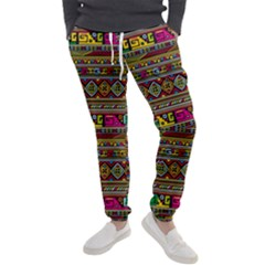 Traditional Africa Border Wallpaper Pattern Colored Men s Jogger Sweatpants by EDDArt