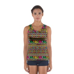 Traditional Africa Border Wallpaper Pattern Colored Sport Tank Top  by EDDArt