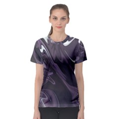 Purple Marble Digital Abstract Women s Sport Mesh Tee