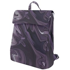 Purple Marble Digital Abstract Flap Top Backpack