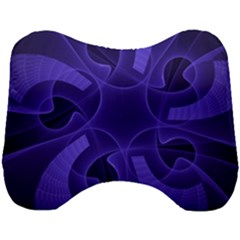Fractal Blue Star Abstract Head Support Cushion