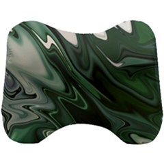 Green Marble Digital Abstract Head Support Cushion