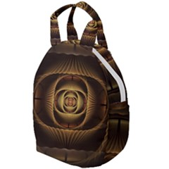 Fractal Copper Amber Abstract Travel Backpacks