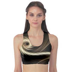 Fractal Background Pattern Curve Sports Bra
