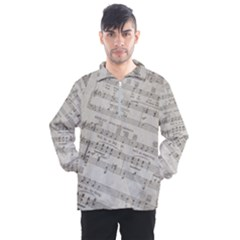 Sheet Music Paper Notes Antique Men s Half Zip Pullover by Pakrebo