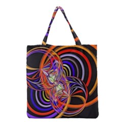Multicolor Multi Color Circles Grocery Tote Bag by Pakrebo