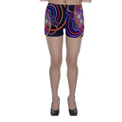 Multicolor Multi Color Circles Skinny Shorts