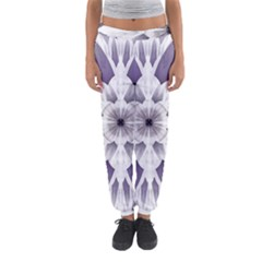 Fractal Floral Pattern Decorative Women s Jogger Sweatpants