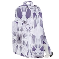 Fractal Floral Pattern Decorative Double Compartment Backpack