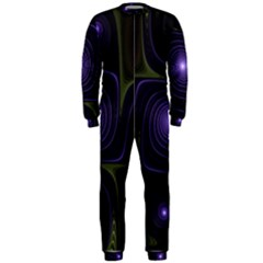 Fractal Colors Pattern Abstract Onepiece Jumpsuit (men)