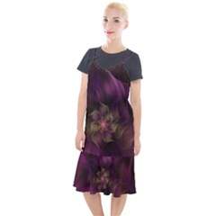 Fractal Pink Lavender Flower Bloom Camis Fishtail Dress