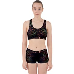 Fractal Colorful Pattern Texture Work It Out Gym Set