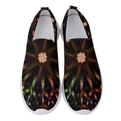 Fractal Colorful Pattern Texture Women s Slip On Sneakers