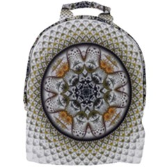 Medallion Fractal Digital Art Mini Full Print Backpack