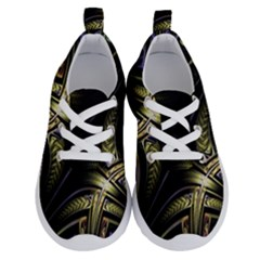 Fractal Braids Texture Pattern Running Shoes by Pakrebo