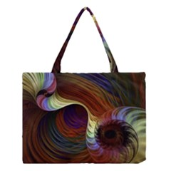 Fractal Colorful Rainbow Flowing Medium Tote Bag