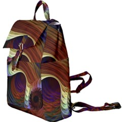 Fractal Colorful Rainbow Flowing Buckle Everyday Backpack