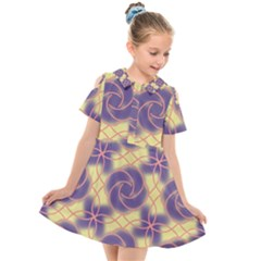Colorful Abstract Pattern Kids  Short Sleeve Shirt Dress by tarastyle