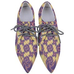 Colorful Abstract Pattern Pointed Oxford Shoes by tarastyle