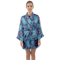 Colorful Abstract Pattern Long Sleeve Kimono Robe by tarastyle