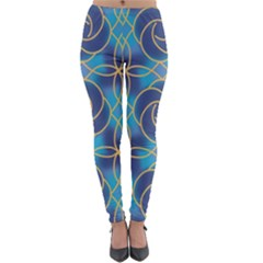 Colorful Abstract Pattern Lightweight Velour Leggings by tarastyle