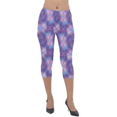 Colorful Abstract Pattern Lightweight Velour Capri Leggings  by tarastyle