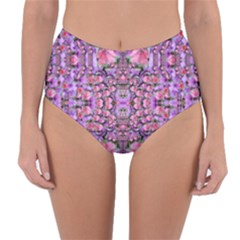 World Wide Blooming Flowers In Colors Beautiful Reversible High-waist Bikini Bottoms by pepitasart