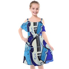 L amour Ou Quoi? 2 Kids  Cut Out Shoulders Chiffon Dress
