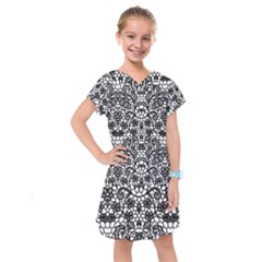 Lace Seamless Pattern With Flowers Kids  Drop Waist Dress by Sobalvarro