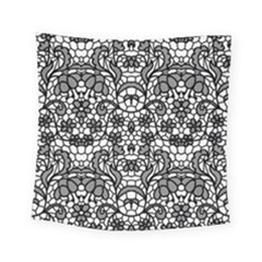 Lace Seamless Pattern With Flowers Square Tapestry (small) by Wmcs91