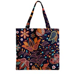 Paisley Grocery Tote Bag by Sobalvarro