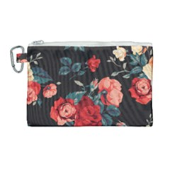 Vintage Roses Vector Seamless Pattern 02 Canvas Cosmetic Bag (large) by Sobalvarro