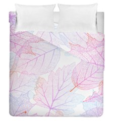 Beautiful Autumn Leaves Vector Seamless Pattern 02 Duvet Cover Double Side (queen Size)