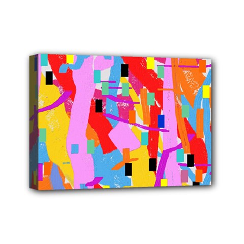 Confetti Nights 2a Mini Canvas 7  X 5  (stretched) by impacteesstreetweartwo