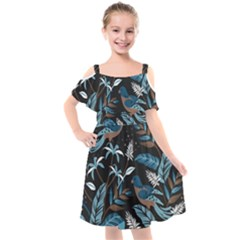 Birds In The Nature Kids  Cut Out Shoulders Chiffon Dress by Wmcs91